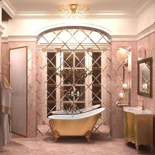 Зеркальное панно для ванной комнаты Элиза
