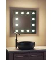 Зеркало для макияжа с подсветкой в ванную комнату Регал 40x40 см